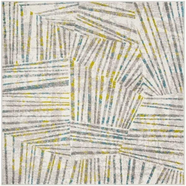 "Safavieh Skyler Contemporary Grey / Green Rug (6'7' x 6'7' Square) - 6'-7"" x 6'-7"" square"