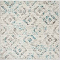 """Safavieh Skyler Contemporary Ivory / Blue Rug (6'7' x 6'7' Square) - 6'-7"""" x 6'-7"""" square"""
