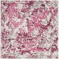 "Safavieh Skyler Contemporary Pink / Ivory Rug (6'7' x 6'7' Square) - 6'-7"" x 6'-7"" square"