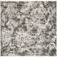 "Safavieh Skyler Contemporary Charcoal / Ivory Rug (6'7' x 6'7' Square) - 6'-7"" x 6'-7"" square"