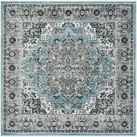 """Safavieh Skyler Contemporary Blue / Ivory Rug (6'7' x 6'7' Square) - 6'-7"""" x 6'-7"""" square"""