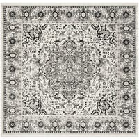 "Safavieh Skyler Contemporary Grey / Ivory Rug (6'7' x 6'7' Square) - 6'-7"" x 6'-7"" square"