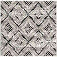 "Safavieh Skyler Contemporary Grey / Black Rug - 6'-7"" x 6'-7"" square"