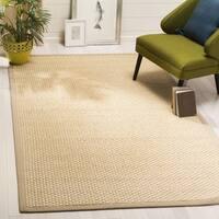 Safavieh Natural Fiber Contemporary Natural / Beige Seagrass Rug (6' x 6' Square) - 6' x 6' Square