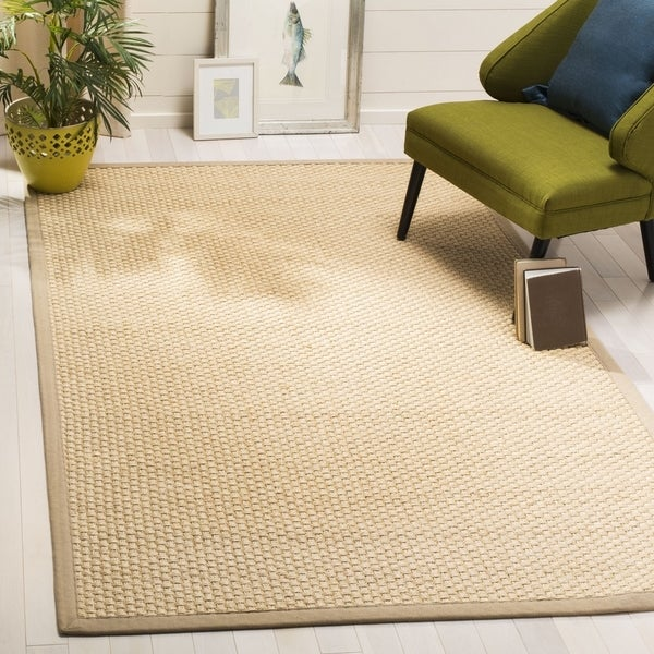 Safavieh Natural Fiber Contemporary Natural / Beige Seagrass Rug (6' x 6' Square)