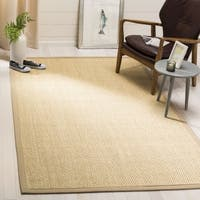 Safavieh Natural Fiber Contemporary Ivory / Beige Seagrass Rug (6' x 6' Square)