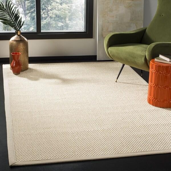 Safavieh Natural Fiber Contemporary Ivory / Light Beige Seagrass Rug (6' x 6' Square) - 6' x 6' Square