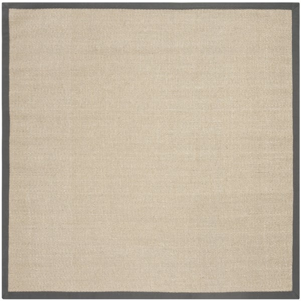 Safavieh Natural Fiber Contemporary Natural / Grey Seagrass Rug (6' x 6' Square)