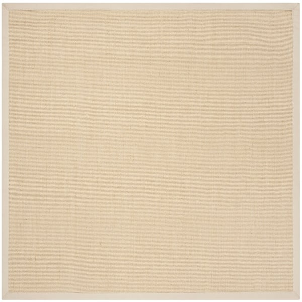 Safavieh Natural Fiber Contemporary Natural / Ivory Seagrass Rug - 6' x 6' Square
