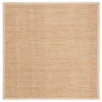 Safavieh Natural Fiber Contemporary Natural / Beige Seagrass Rug - 6' x 6' Square