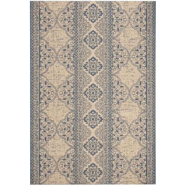 Safavieh Linden Contemporary Blue / Creme Rug (6'7' x 6'7' Square)
