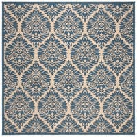 "Safavieh Linden Transitional Cream / Blue Rug - 6'7"" x 6'7"" square"
