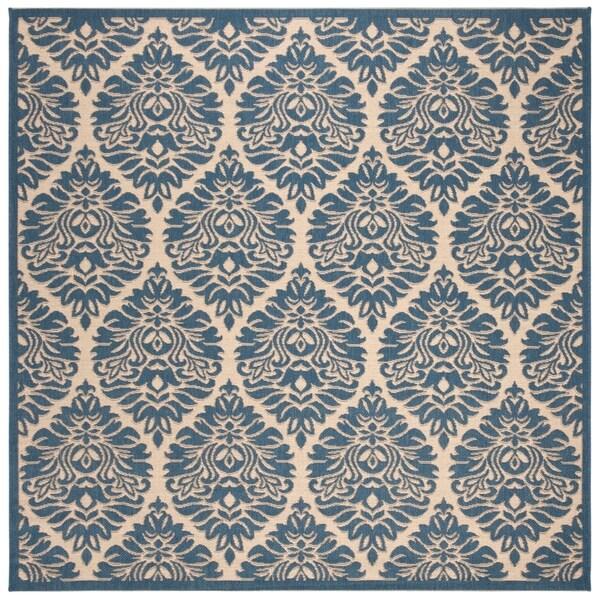 """Safavieh Linden Transitional Cream / Blue Rug - 6'7"""" x 6'7"""" square"""