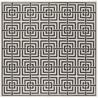 "Safavieh Linden Transitional Lightgrey / Charcoal Rug - 6'7"" x 6'7"" square"