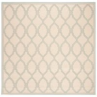 "Safavieh Linden Transitional Cream / Aqua Rug - 6'7"" x 6'7"" square"