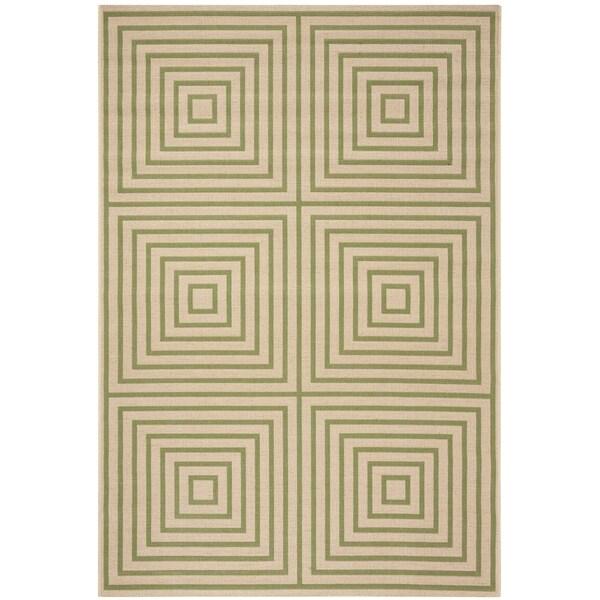 Safavieh Linden Contemporary Cream / Olive Rug (6'7' x 6'7' Square)