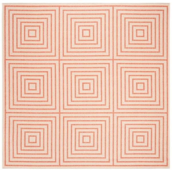 """Safavieh Linden Transitional Cream / Rust Rug - 6'-7"""" X 6'-7"""" Square"""
