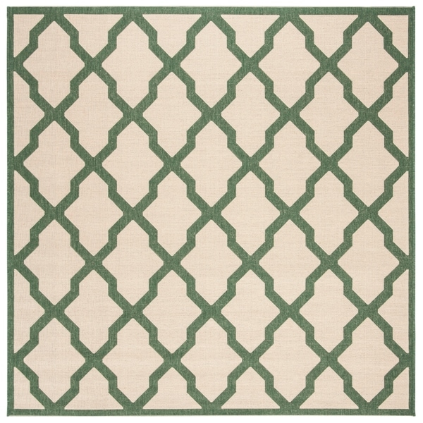 "Safavieh Linden Transitional Cream / Green Rug - 6'7"" x 6'7"" square"