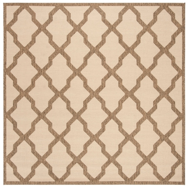 "Safavieh Linden Transitional Cream / Beige Rug - 6'7"" x 6'7"" square"