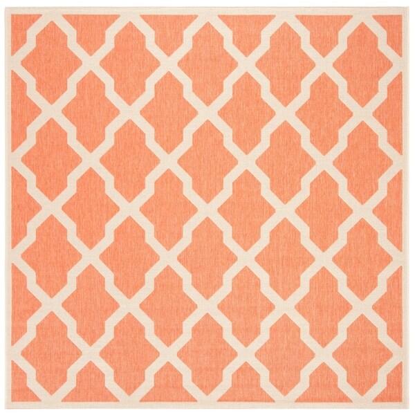 "Safavieh Linden Transitional Rust / Creme Rug - 6'7"" x 6'7"" square"
