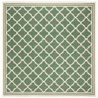 "Safavieh Linden Transitional Green / Creme Rug - 6'7"" x 6'7"" square"