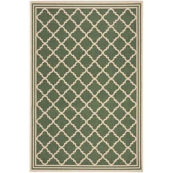 Safavieh Linden Contemporary Green / Creme Rug - 6'7' x 6'7' Square