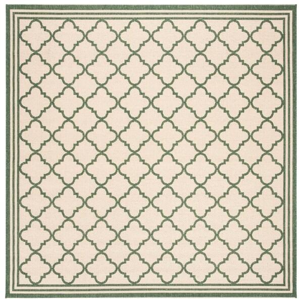"Safavieh Linden Transitional Cream / Green Rug - 6'7"" x 6'7"" square"