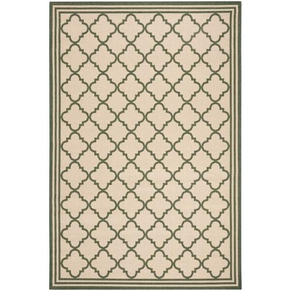 Safavieh Linden Contemporary Cream / Green Rug (6'7' x 6'7' Square)