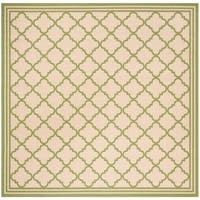 "Safavieh Linden Transitional Cream / Olive Rug - 6'7"" x 6'7"" square"