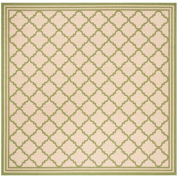 """Safavieh Linden Transitional Cream / Olive Rug - 6'7"""" x 6'7"""" square"""