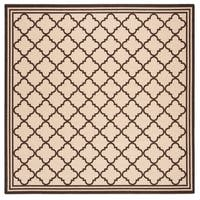 "Safavieh Linden Transitional Creme / Brown Rug - 6'7"" x 6'7"" square"
