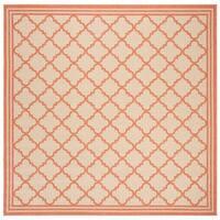 Safavieh Linden Contemporary Cream / Rust Rug - 6'7' x 6'7' Square