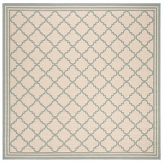 Safavieh Linden Contemporary Cream / Aqua Rug - 6'7' x 6'7' Square