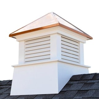 "Manchester Vinyl Cupola with Copper Roof 18"" x 22"" by Good Directions"