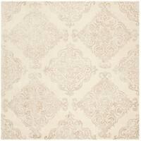 Safavieh Handmade Glamour Modern & Contemporary Ivory / Beige Wool Rug - 6' x 6' Square