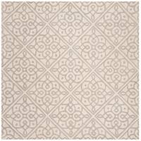 Safavieh Handmade Cambridge Contemporary Ivory / Grey Wool Rug - 6' x 6' Square