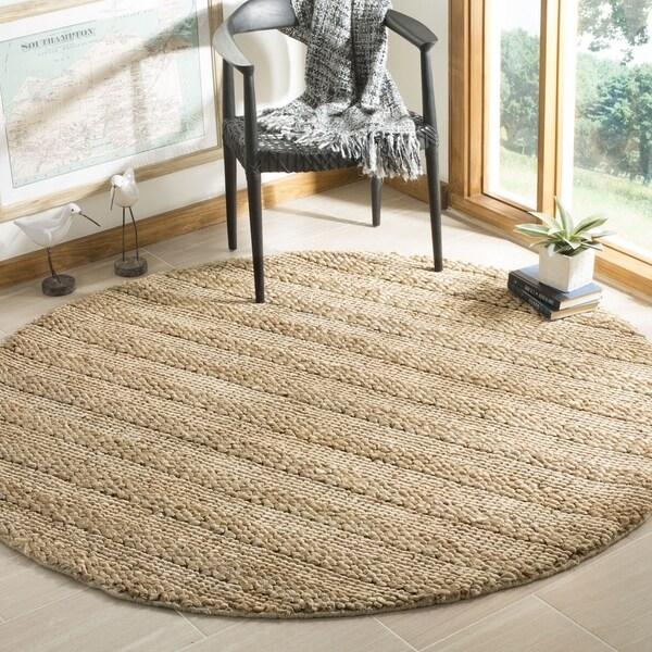 Safavieh Hand-Woven Natural Fiber Contemporary Natural Jute Rug (6' x 6' Round)