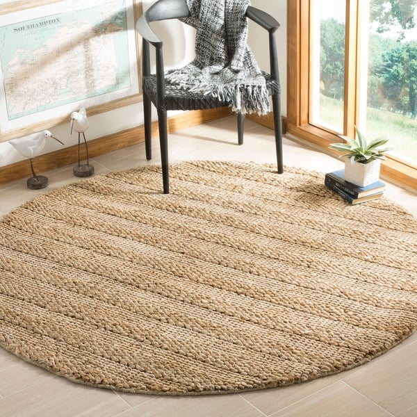 Safavieh Hand-Woven Natural Fiber Contemporary Natural Jute Rug (6' x 6' Round)