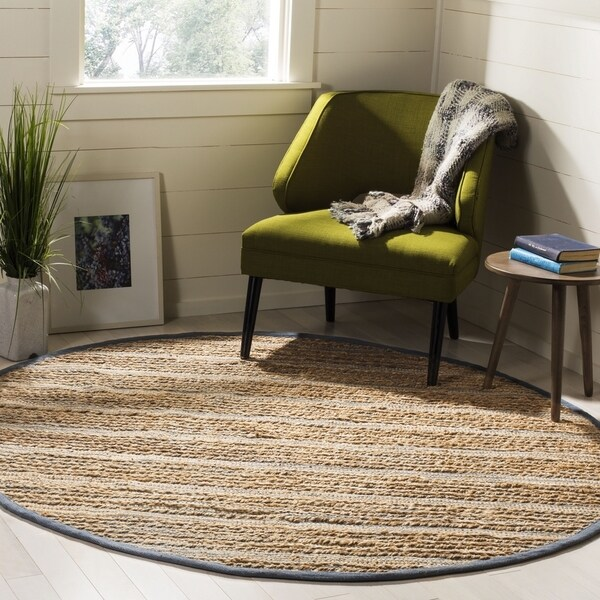 Safavieh Hand-Woven Cape Cod Contemporary Blue Jute Rug (6' x 6' Round)