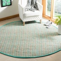 Safavieh Hand-Woven Cape Cod Contemporary Green Jute Rug (6' x 6' Round)