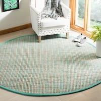 Safavieh Handmade Cape Cod Bohemian & Eclectic Green Jute Rug - 6' x 6' Round