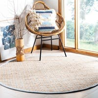 Safavieh Handmade Cape Cod Bohemian & Eclectic Natural Jute Rug - 6' x 6' Round