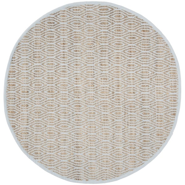 Safavieh Hand-Woven Cape Cod Contemporary Silver / Natural Jute Rug (6' x 6' Round)