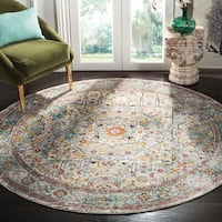 "Safavieh Aria Traditional Cream / Blue Rug - 6'5"" x 6'5"" round"