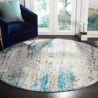 Safavieh Aria Vintage Blue / Creme Rug (6'5' x 6'5' Round)