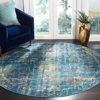 Safavieh Aria Vintage Blue / Multi Rug - 6'5' x 6'5' Round