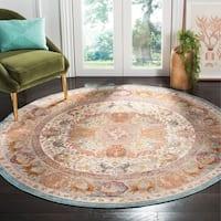 Safavieh Aria Vintage Beige / Orange Rug (6'5' x 6'5' Round)