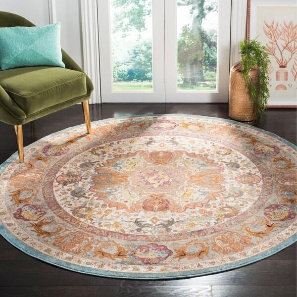 Safavieh Aria Vintage Beige / Orange Rug - 6'5' x 6'5' Round