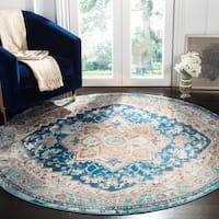 Safavieh Aria Vintage Blue / Beige Rug (6'5' x 6'5' Round)