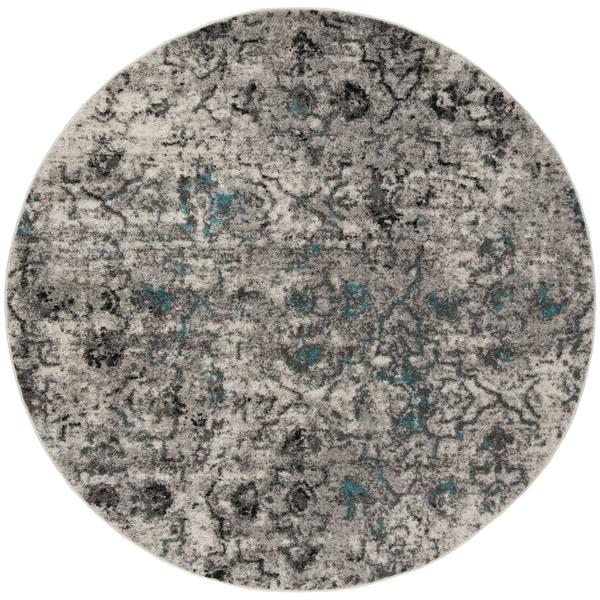 Safavieh Adirondack Vintage Grey / Black Rug (6' x 6' Round)